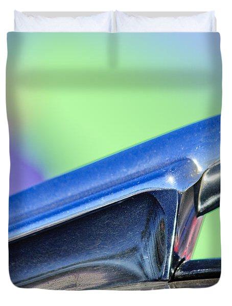 1950 Chevrolet Hood Ornament 3 Duvet Cover by Jill Reger