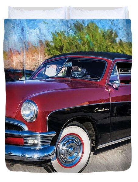 1950 Ford 2 Door Crestliner Painted    Duvet Cover