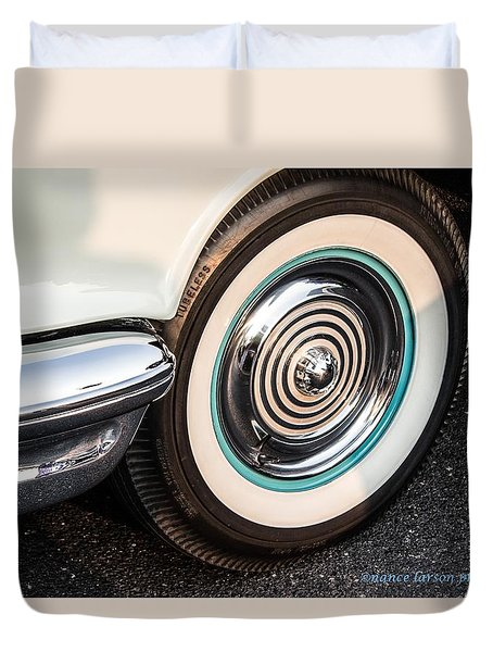 1950 Olds Whitewalls Duvet Cover