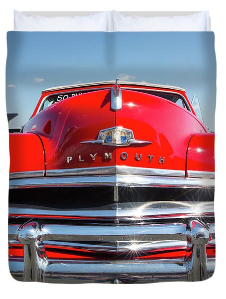 1950 Plymouth Automobile Duvet Cover