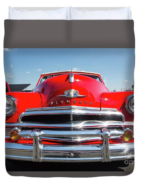 1950 Plymouth Automobile Duvet Cover by Kevin McCarthy