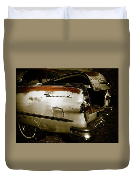 Duvet Cover featuring the photograph 1950s Packard Trunk by Marilyn Hunt
