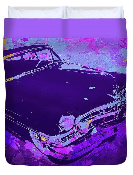 1951 Cadillac Pop Violet Duvet Cover