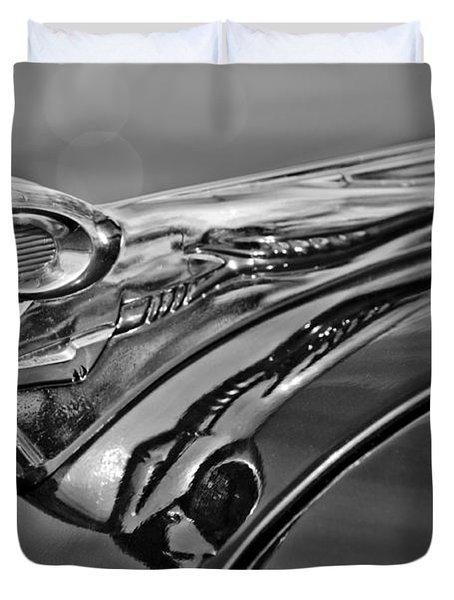 1951 Dodge Pilot House Pickup Hood Ornament 2 Duvet Cover by Jill Reger