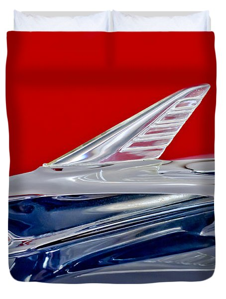 1951 Ford Woodie Hood Ornament Duvet Cover