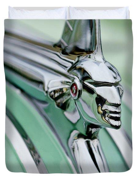 1951 Pontiac Streamliner Hood Ornament 3 Duvet Cover by Jill Reger