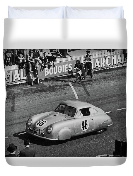 1951 Porsche At Le Mans - Doc Braham - All Rights Reserved Duvet Cover