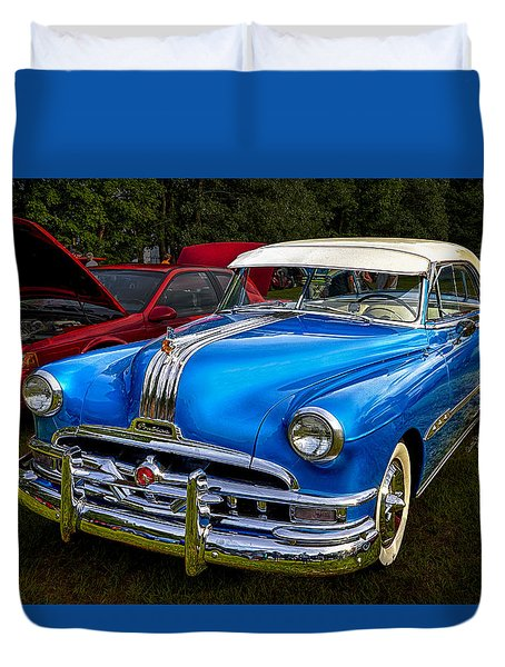 1952 Blue Pontiac Catalina Chiefton Classic Car Duvet Cover