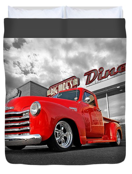 1952 Chevrolet Truck At The Diner Duvet Cover
