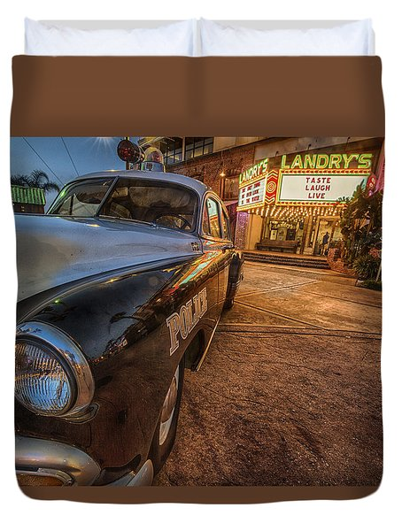 Duvet Cover featuring the tapestry - textile 1952 Chevy  by Kathy Adams Clark