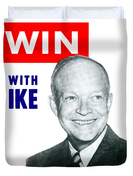 1952 Win With Ike Duvet Cover