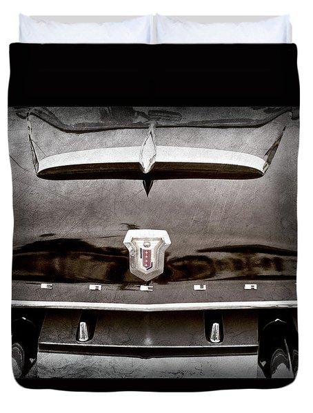 1953 Mercury Monterey Convertible Hood Ornament - Emblem -0092ac Duvet Cover