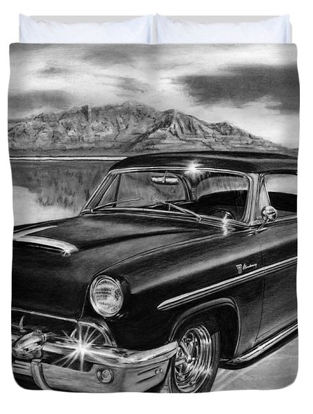 1953 Mercury Monterey On Bonneville Duvet Cover