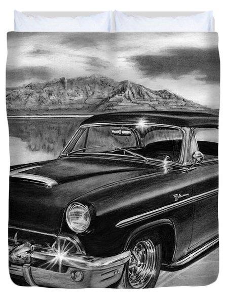1953 Mercury Monterey On Bonneville Duvet Cover by Peter Piatt