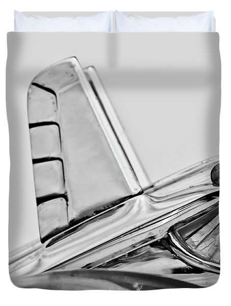 1953 Pontiac Hood Ornament 2 Duvet Cover by Jill Reger