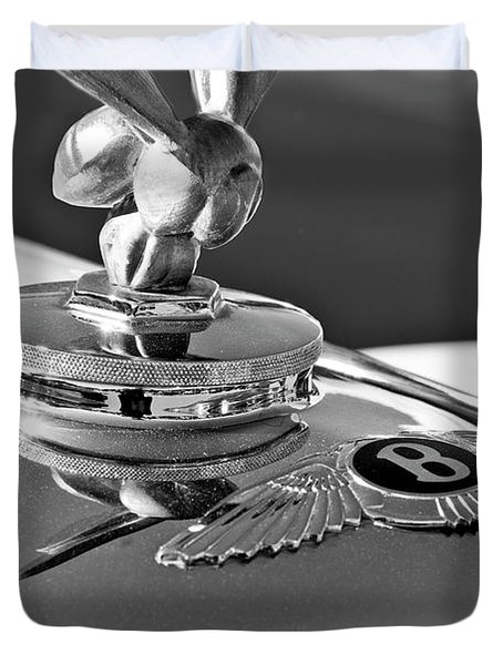 1954 Bentley One Of A Kind Hood Ornament 2 Duvet Cover by Jill Reger