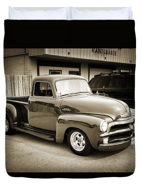 1954 Chevrolet Pickup Classic Car Photograph 6736.01 Duvet Cover