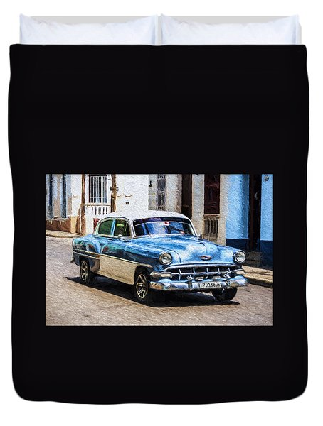 1954 Chevy Cuba Duvet Cover
