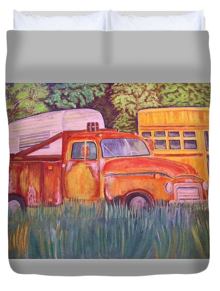 1954 Gmc Wrecker Truck Duvet Cover