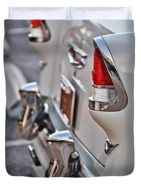 1955 Chevrolet Belair Tail Lights Duvet Cover by Jill Reger