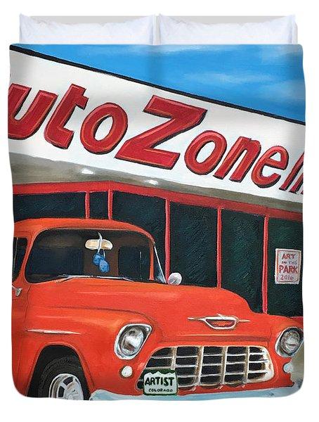 1955 Chevy - Autozone Duvet Cover