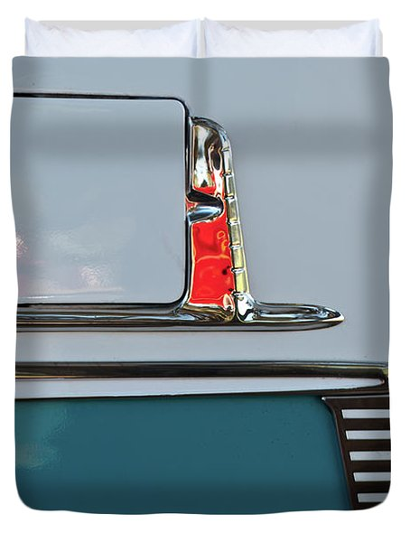 Duvet Cover featuring the photograph 1955 Chevy Belair 2 Door by Jani Freimann