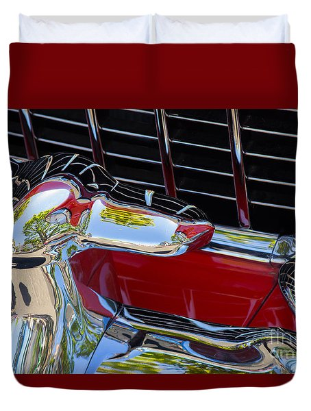 1955 Chevy Coupe Grill Duvet Cover