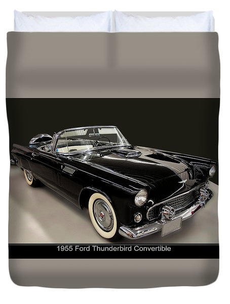 1955 Ford Thunderbird Convertible Duvet Cover
