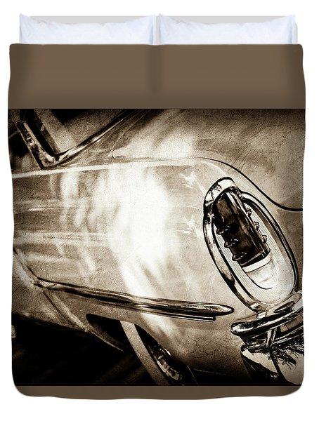 1955 Mercury Monterey Taillight -0351s Duvet Cover