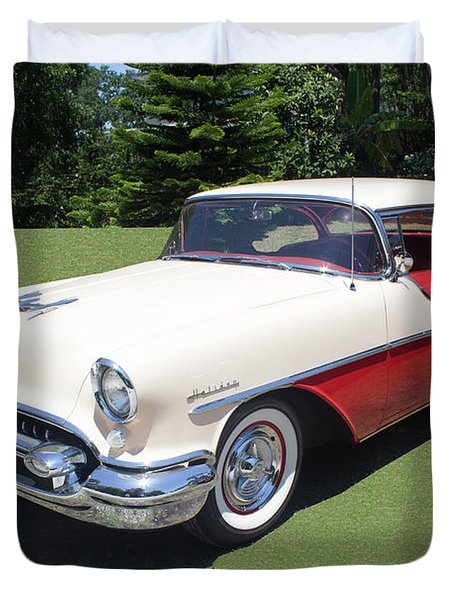 1955 Oldsmobile Super 88 Holiday Duvet Cover