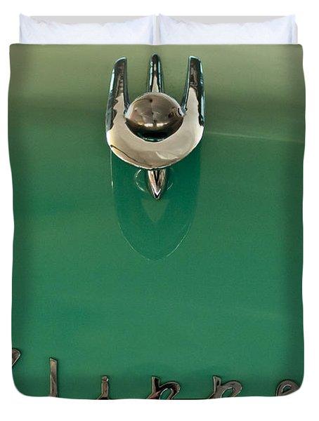 1955 Packard Clipper Hood Ornament 2 Duvet Cover