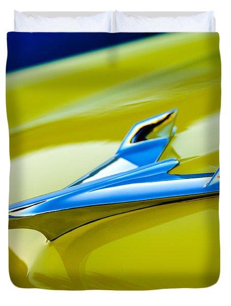 1956 Chevrolet Hood Ornament Duvet Cover