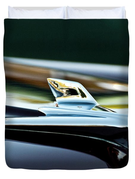 1956 Chevy Belair Hood Ornament Flying 1 Duvet Cover