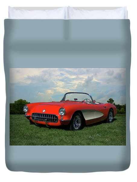 1956 Corvette Duvet Cover