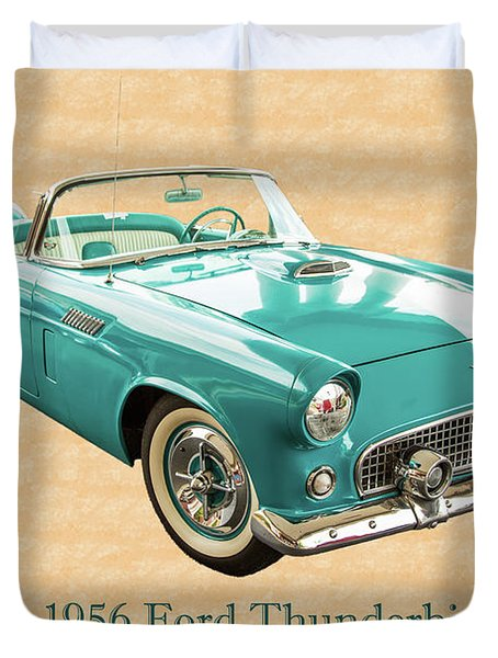 1956 Ford Thunderbird 5510.03 Duvet Cover