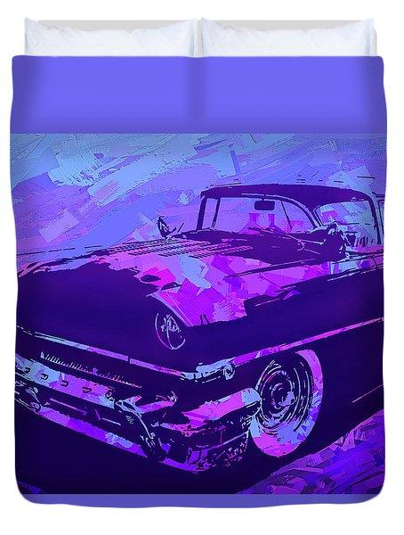 1956 Mercury Hardtop Custom Pop Violet Duvet Cover
