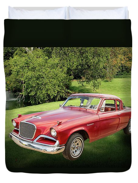 1956 Studebaker Power Hawk 5543.03 Duvet Cover