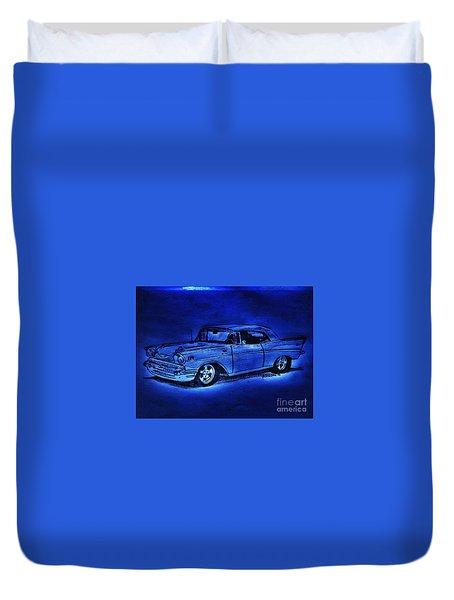 1957 Chevy Bel Air - Moonlight Cruisin  Duvet Cover