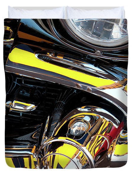 Duvet Cover featuring the photograph 1957 Chevy by Roger Mullenhour