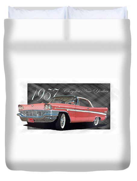 1957 Chrysler New Yorker Duvet Cover