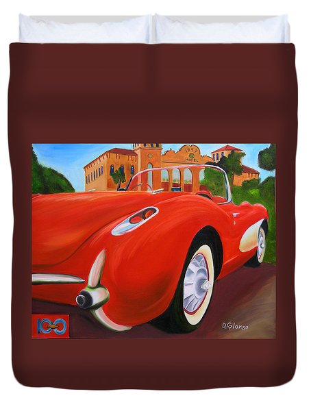 1957 Corvette Duvet Cover