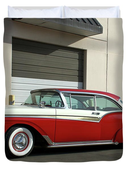 1957 Ford Fairlane Custom Duvet Cover