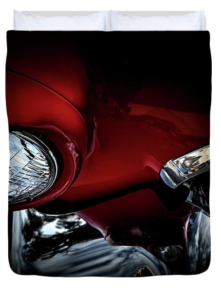 Duvet Cover featuring the photograph 1957 Ford Thunderbird, No.6 by Eric Christopher Jackson