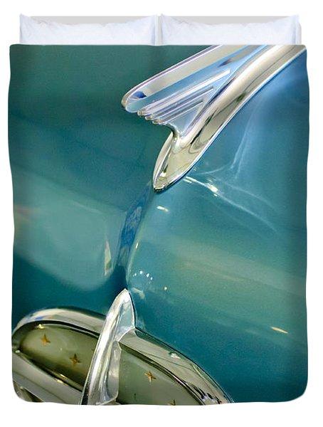 1957 Oldsmobile Hood Ornament 5 Duvet Cover by Jill Reger