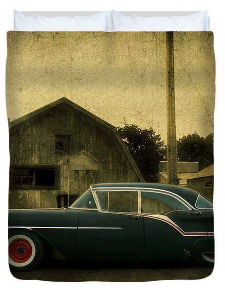 1957 Oldsmobile Duvet Cover