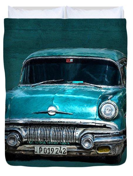 1957 Pontiac Bonneville Duvet Cover