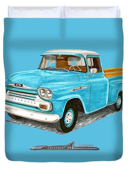 1958 Apache Pick Up Truck Duvet Cover