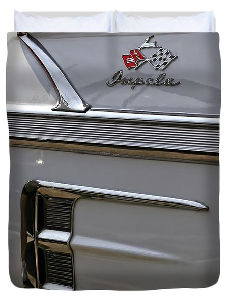 1958 Chevrolet Impala Duvet Cover by Gordon Dean II