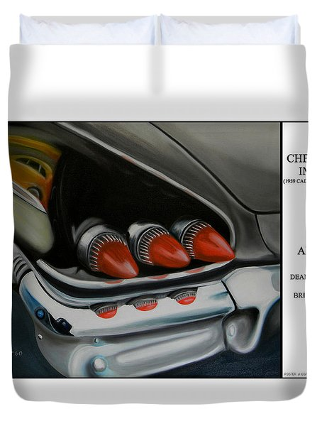 1958 Chevy Impala Duvet Cover