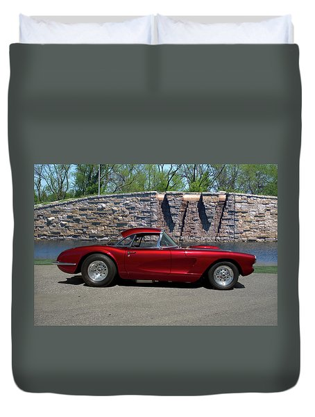 1958 Corvette Duvet Cover